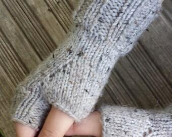 Knit Fingerless Gloves - Handmade Fingerless Gloves - Fingerless Mittens - Fingerless - Handwarmers - Arm Warmers - Accessories - ON SALE