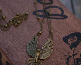 Eagle Necklace | Layering Necklace | Vintage Brass Necklace