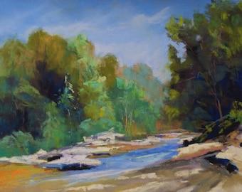 River Cut - 8x10 - Pastel