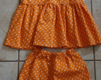 Going out of business SALE, girls top and ruffle shorts set ,size 9-12 months girls outfit, Ready to ship