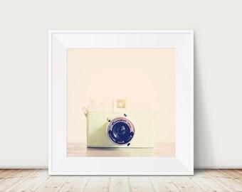mint camera photograph still life photograph nursery decor camera print camera art retro mint camera photograph