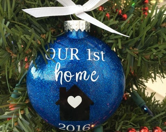 First Home Ornament, Our First Home, Christmas Ornament, Personalized, Custom Ornament, Housewarming Gift, New Home, First house, 1st Home,
