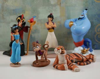 Jasmine and Aladdin CAKE TOPPER SetSet of 6 pcs , Priority Mail Shipping
