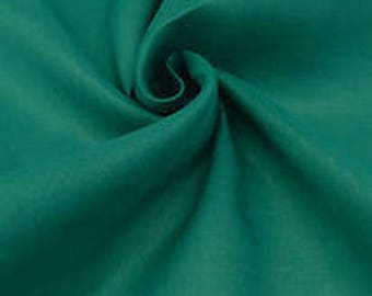 "Teal Green Ramie Linen Fabric 54"" Wide"