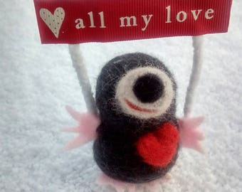 Mole gift mole lovers gift needle felted mothers day gift cute mole gift cute felt mole, miniature mole,felted gift for mothers day birthday