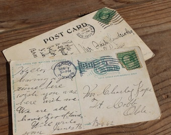 Vintage 1909-1912 New York and Waco Texas Postcards