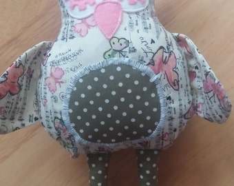 Cotton Small Soft Toy Owl stuffie teacher gift