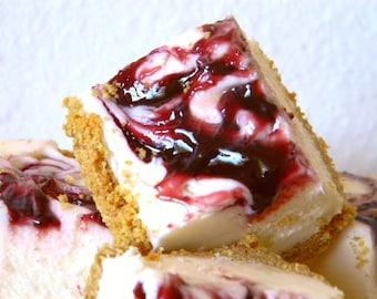 Julie's Fudge - BLACKBERRY CHEESECAKE With Graham Cracker Crust - Over One Pound