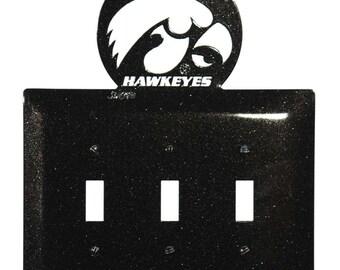 Iowa Hawkeyes Light Switch Triple Plate Cover