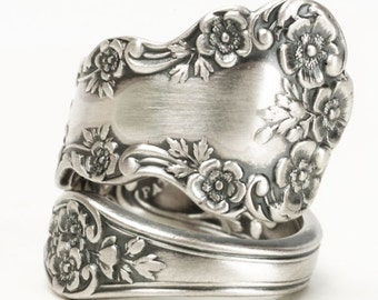 Buttercup Flower Ring, Sterling Silver Spoon Ring, Chunky Flower Ring, Antique Gorham Buttercup, Gift for Her, Ring Size 7 8 9 10 11  (5814)