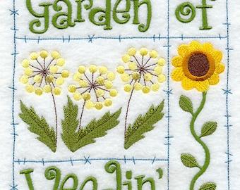 Garden of Weedin' Embroidered Flour Sack Hand/Dish Towel