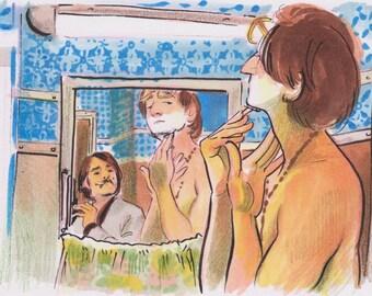Darjeeling Limited Original Illustration 2