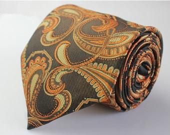 Brown Paisley Ties.Mens Silk Ties.Wedding Ties.Business Neckties.Wedding Ties.Gift For Him.