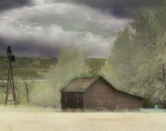 Montana Homestead 2 - Photograph matted to 11 x 14