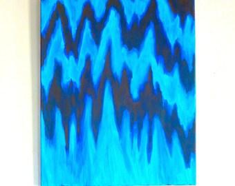 "True Bluish, Original Acrylic Abstract Painting, 16x20"""