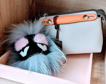Fur Monster Bag Charm Key Holder