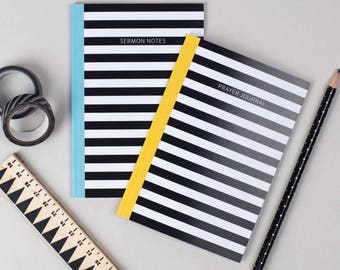 Prayer Journal and Sermon Notes Notebooks | A6 notebook with Plain Pages