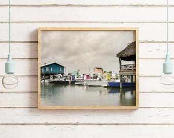 Dreamy Fishing Village, Coco Marina, Louisiana Bayou Photography, Cocodrie Marina Decor, Boat Photo, Gift for Dad, Cajun Decor, Creole Boats