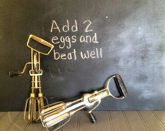 Two Vintage Hand Mixers Hand Held Mixing Kitchen Tool Hand Blender