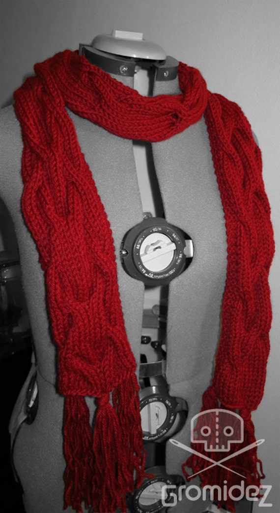 Doctor Who Inspired Amy Pond Pandorica Knit Scarf Washable