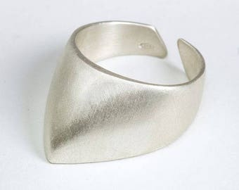 Ring, handmade, silver sterling 925, fang, for man