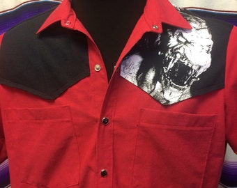 Medium Pumpkinhead tshirt mens western shirt