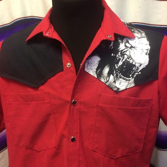 Medium Pumpkinhead tshirt mens western shirt tS03nuT4