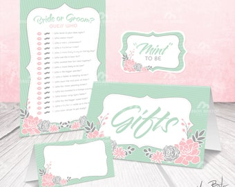 Bridal Shower Package - Pink and Mint