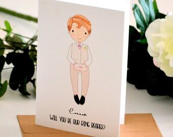 Ring Bearer Proposal Page Boy Card Ring Bearer Card Ring Bearer Gift Page Boy Gift Personalised Gift Handmade Greeting Card Wedding