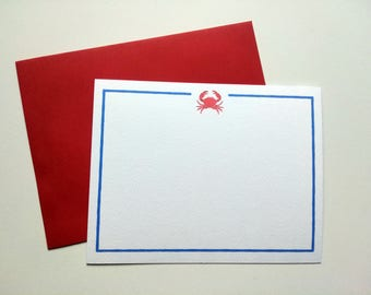 Crab with Blue Stripes Note Cards