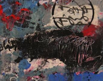 The Rain Must Fall - Original Abstract Mixed Media Painting
