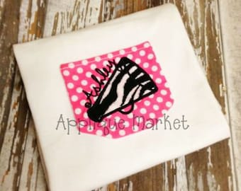 Machine Embroidery Design Applique In the Hoop Pocket with Megaphone INSTANT DOWNLOAD