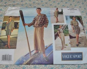 Vogue 1123 Misses Jacket Dress Top Skirt and Pants Sewing Pattern - UNCUT - Size 14 16 18