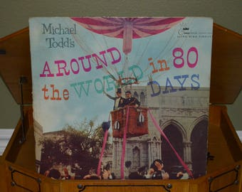 Vintage Vinyl Soundtrack RED Record: Around the World in 80 Days Album CST-101