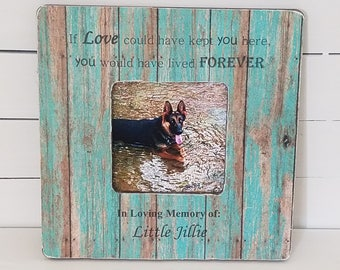 Personalized dog frame - personalized pet memorial - dog memorial - cat memorial - pet loss gift - dog loss gift - dog memorial frame