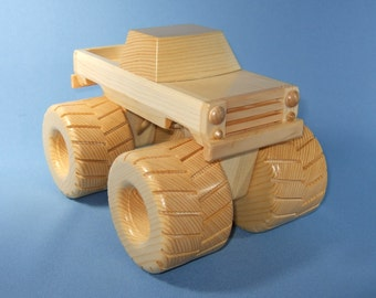 Handcrafted Wooden Toy Monster Truck