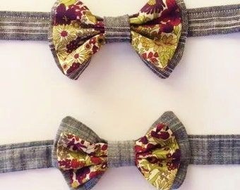 SHIPS IMMEDIATELY, Kids Bow Tie, Child's Bow Tie, Chambray Toddler Bow Tie, Liberty of London, Ring Bearer Tie, Child's Necktie, green