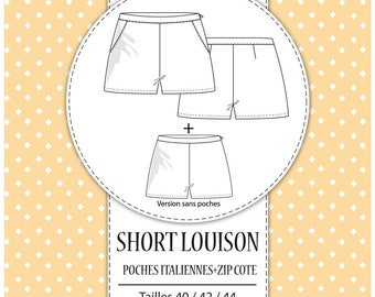 """Pack 3 sizes - T40, T42 and T44 - pattern shorts """"Louison"""""""