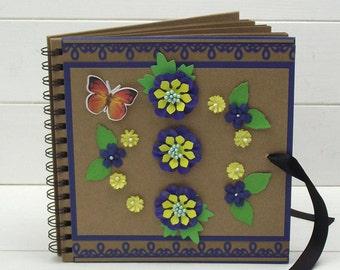 floral photo album wedding anniversary birthday gift scrapbook guestbook