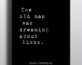 The Old Man & The Sea Literary Print -  Bookish Digital Print