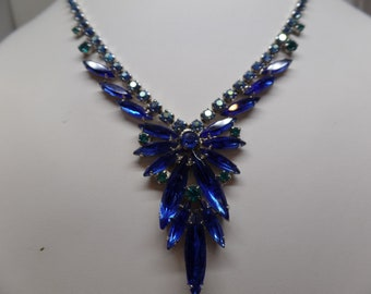 JULIANA Delizza and Elster Blue Navette Crystal Necklace