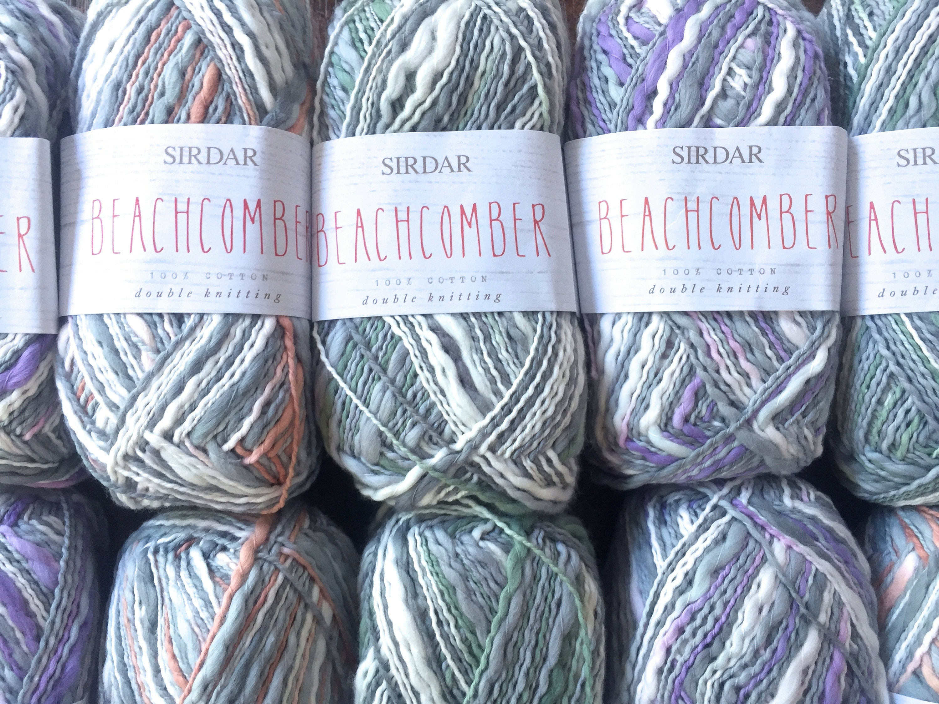 Sirdar Yarns BEACHCOMBER DK Cotton Self Striping Thick and Thin Yarn ...
