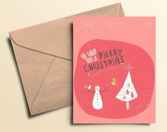 Merry Christmas & Happy New Year Holiday Cards