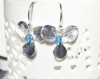 Jade Earrings, Orchid Leaf Drops