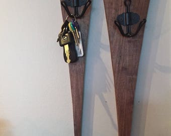 Walnut Key or Coat Rack