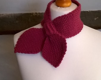 Crochet Pattern for Scarf - Bow Ascot Miss Marple