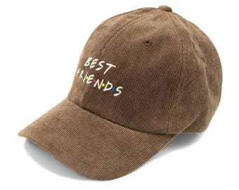 Best Friends Hat in corduroy- Brown