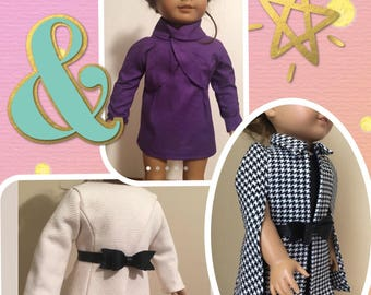 18 inch Doll Pattern Bundle, Doll Clothes Pattern Lot, 18 inch Pattern Bundle, Doll Clothes Pattern Bundle, 18 inch Doll Clothes Bundle