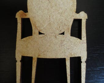 Cut out of MDF 57x34mm - Chair #2506