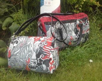 Dragon Blanche Barrel Bag